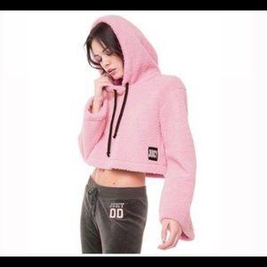 NWT Pink juicy velour crop hoodie